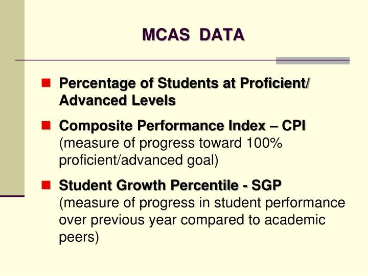 Mcas data