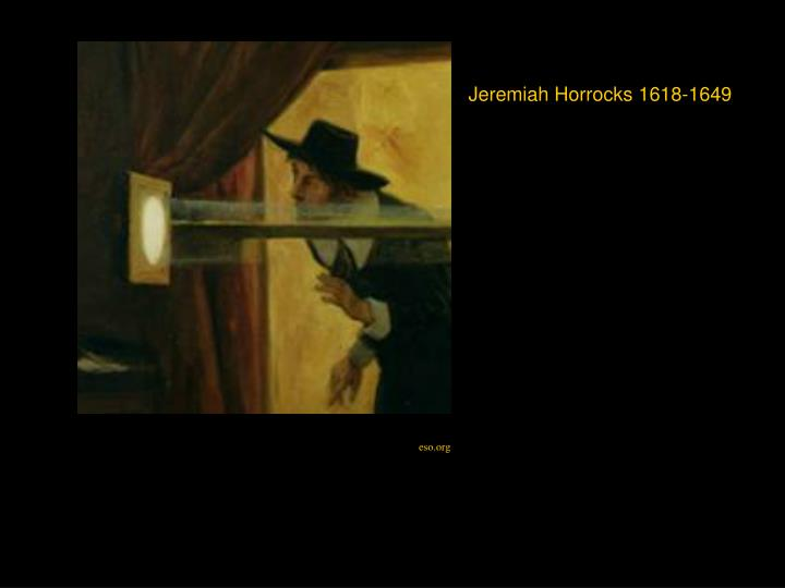 Jeremiah Horrocks 1618-1649