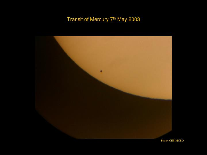 Transit of Mercury 7