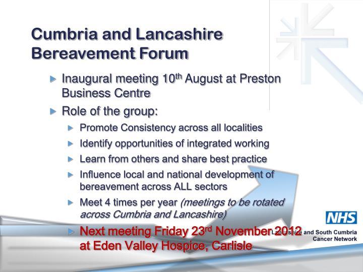 Cumbria and Lancashire Bereavement Forum