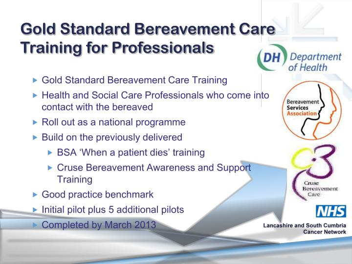 Gold Standard Bereavement Care Training for Professionals