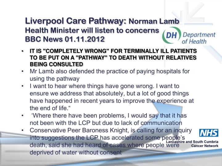 Liverpool Care Pathway: