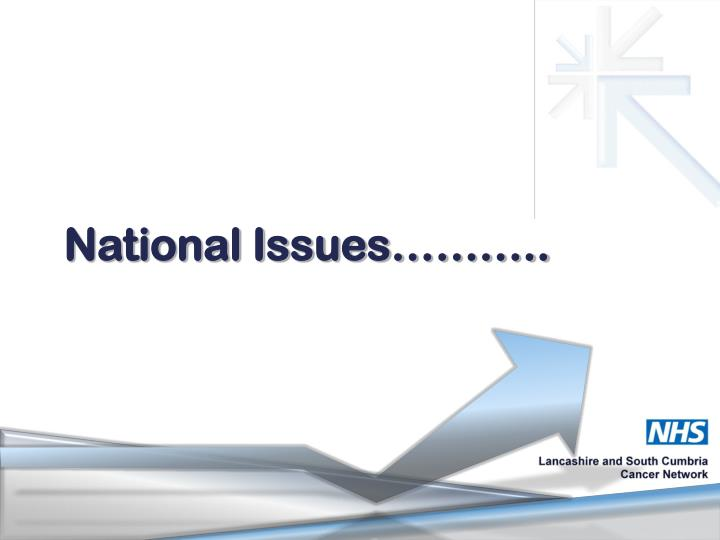 National Issues………..