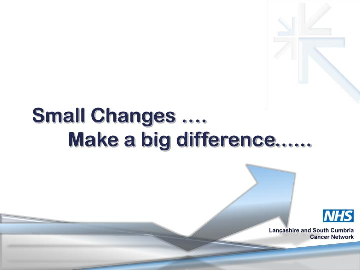 Small Changes ….