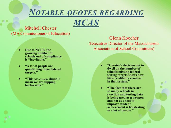 Notable quotes regarding