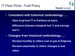 it floor price fuel proxy