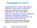 proposals for future