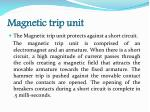 magnetic trip unit