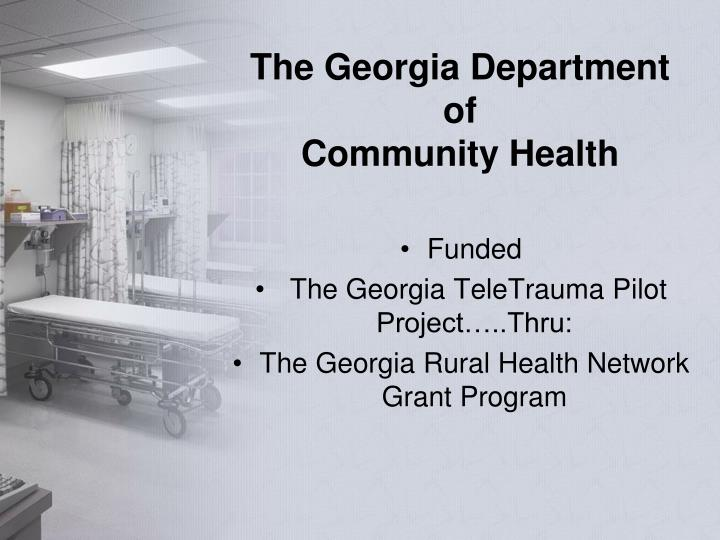 The georgia department of community health
