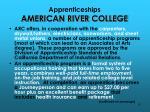 apprenticeships american river college