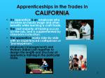 apprenticeships in the trades in california