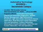 automotive technology wyotech sacramento campus