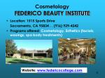 cosmetology federico beauty institute