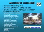 modesto college
