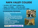 napa valley college