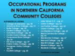 o ccupational p rograms in n orthern c alifornia c ommunity c olleges