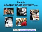 the arts academy of art university cont