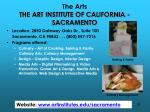 the arts the art institute of california sacramento