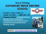 truck driving advanced truck driving school