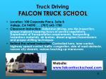 truck driving falcon truck school