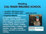 welding cal trade welding school