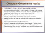 corporate governance con t3