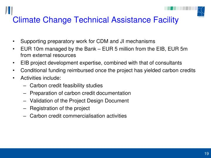 Climate Change Technical Assistance Facility