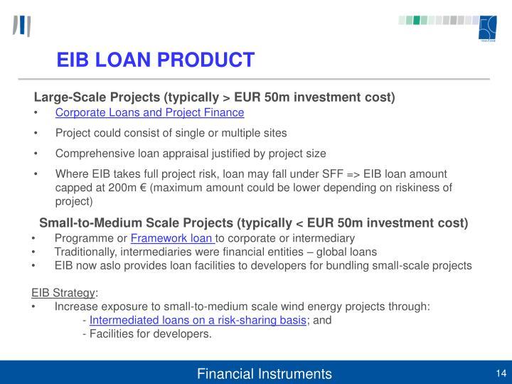 EIB LOAN PRODUCT