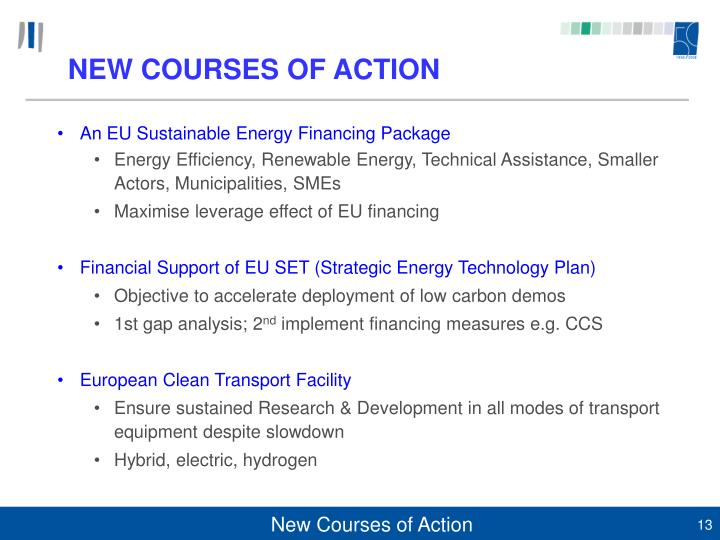 NEW COURSES OF ACTION