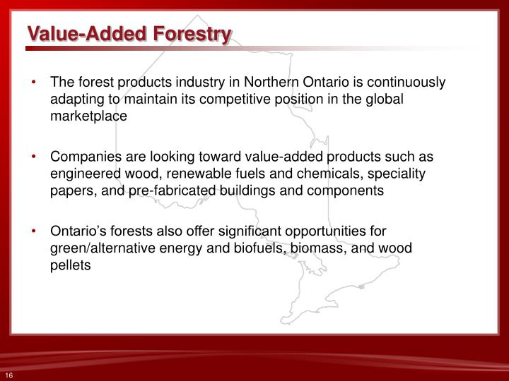 Value-Added Forestry