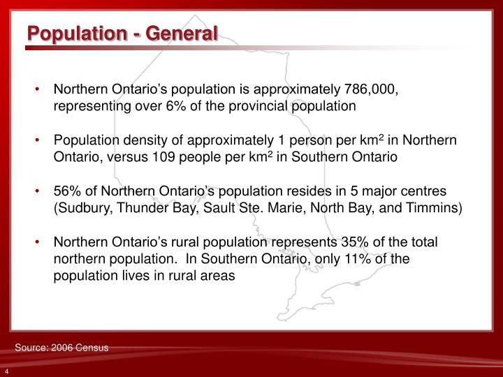Population - General