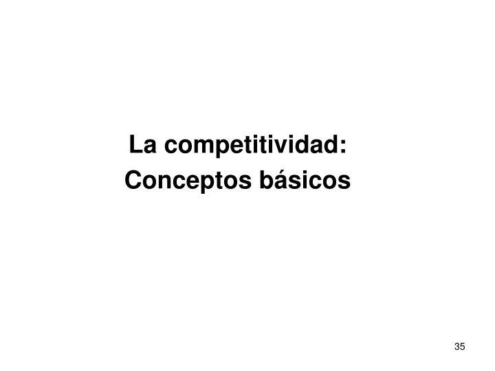La competitividad: