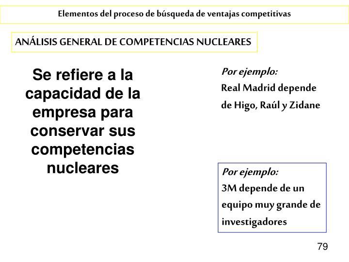 Se refiere a la capacidad de la empresa para conservar sus competencias nucleares