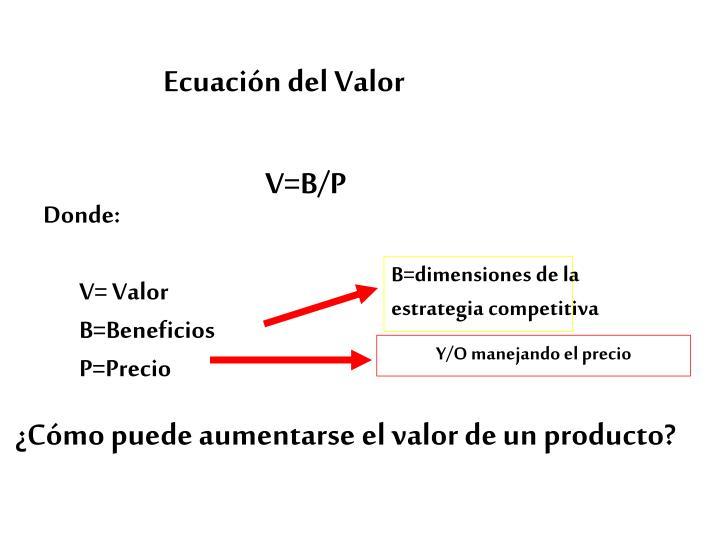 Ecuación del Valor