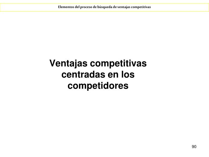 Ventajas competitivas centradas en los competidores