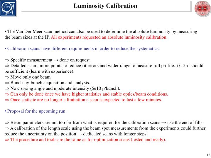 Luminosity Calibration