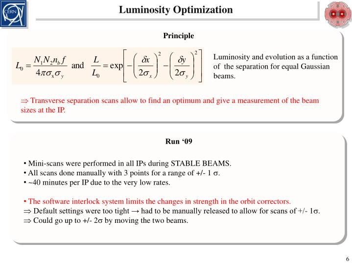Luminosity Optimization