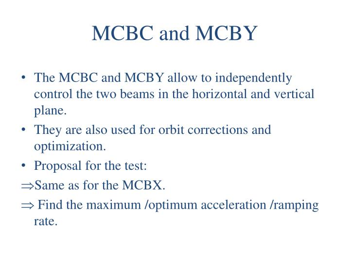 MCBC and MCBY