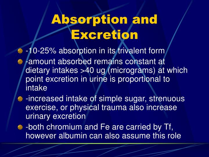 Absorption and Excretion