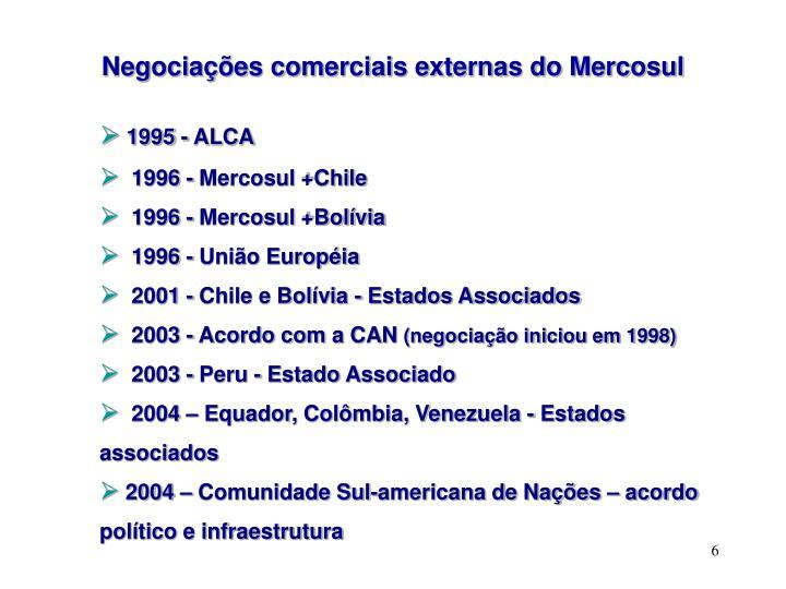 Negociações comerciais externas do Mercosul