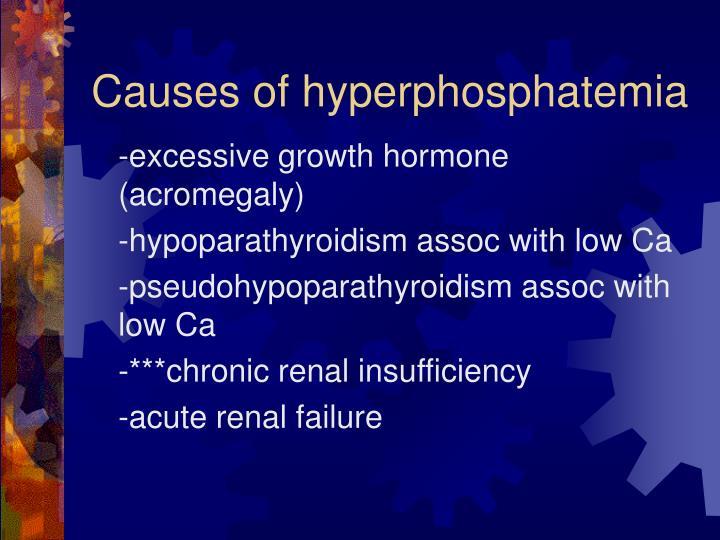 Causes of hyperphosphatemia