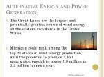 alternative energy and power generation7