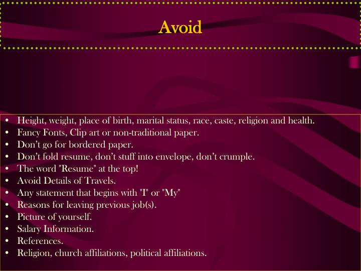 Avoid