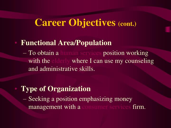 Career Objectives