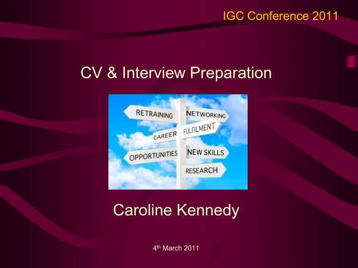 IGC Conference 2011