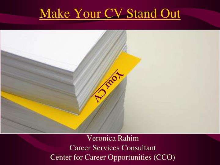 Make Your CV Stand Out