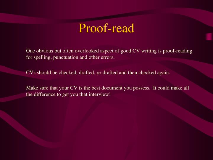 Proof-read