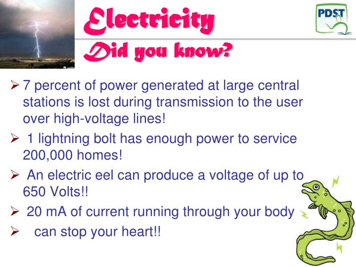 Electricity did you know