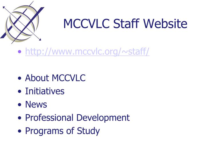 MCCVLC Staff Website