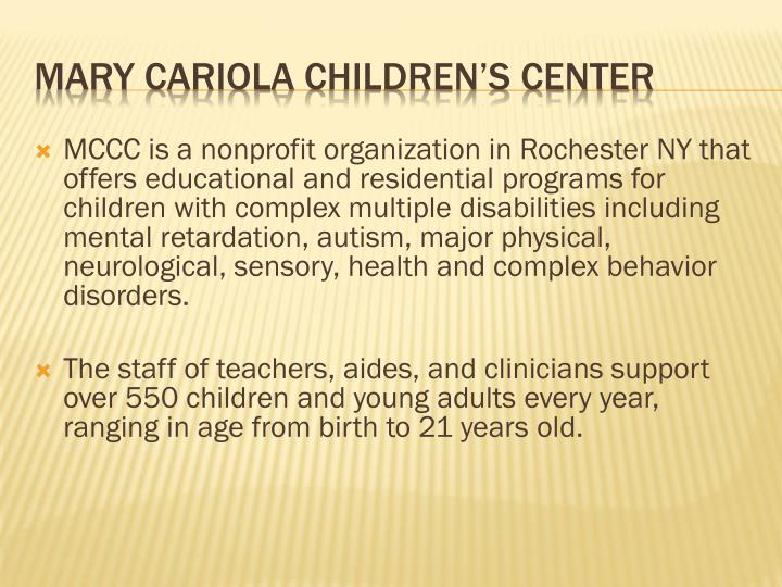 Mary cariola children s center